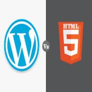 wordpress vs html-logo